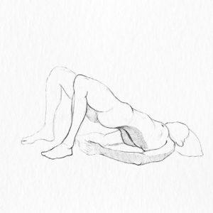 Yoga pose. © Tom Zahler, 2018